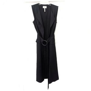 Laundry by Shelli Segal Belted Pinstripe Duster 4